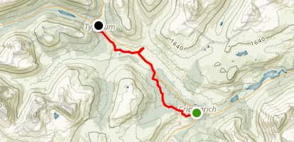 West Highland Way: Crianlarich to Tyndrum Map