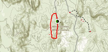 White Domes Trail Map