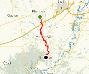 White Lick Creek From Plainfield To Brooklyn Map