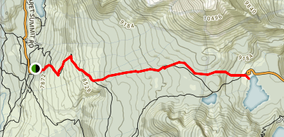 Reds Meadow to Horseshoe Lake Map