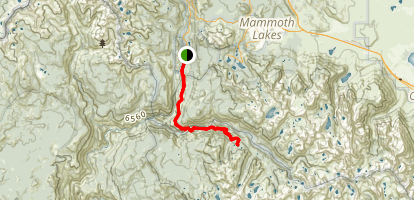 Iva Bell Hot Springs and Lost Keys Lakes Map