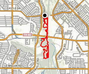 Rowlett Creek Loop Map