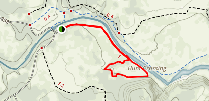 San Gabriel River Trail and Goodwater Loop Map