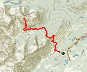 Wendell East Peak Route Map