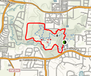 Arbor Hills Nature Preserve Outer Loop Map