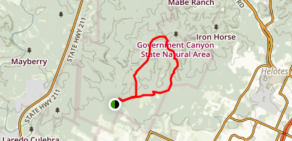 Recharge and Far Reaches Trails to Sendero Balcones Loop Map
