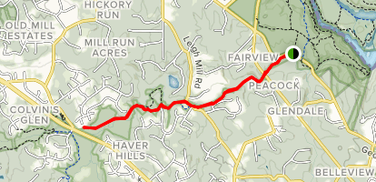 Difficult Run via Georgetown Pike Map