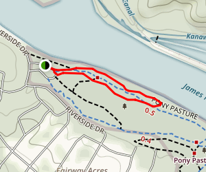 Pony Pasture Rock Trail Map