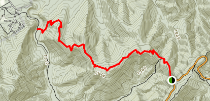 Rocky Mountain and Brown Mountain via Rocky Mountain Trail Map