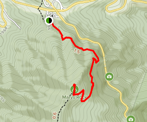 Marys Rock via Appalachian Trail (North Approach) Map
