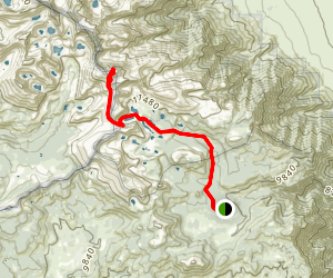 Cottonwood Lakes Campground to Mount Langley Map