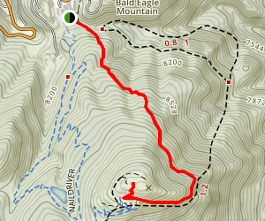 Bald Mountain via Silver Lake Trail Map
