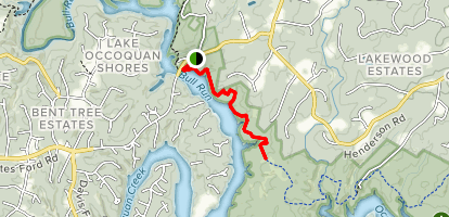 Bull Run Occoquan Trail via Old Yates Ford Road Map