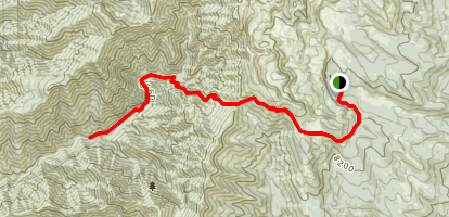 Tony Grove to Smithfield Canyon Map