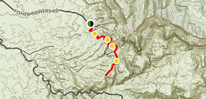 Fisher Towers Trail Map