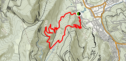 Armstrong and Spiro Loop Trail Map