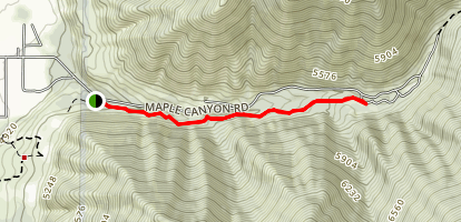 Maple Canyon to Whiting Campground Map