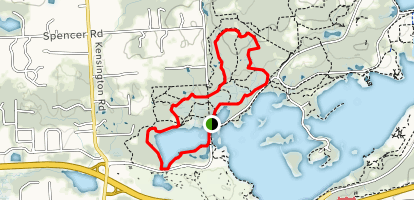 Fox Trail and Chicadee Loop to Wildwing Trail Loop Map