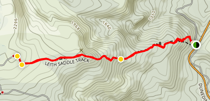 Leith Saddle Track Map