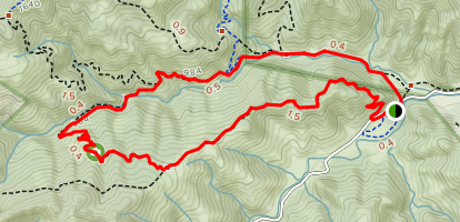 Mayfair Ranch and Longwall Canyon Loop Map