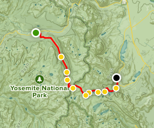 Tuolumne Meadows - PCT/Lyell Creek to Silver Lake  Map