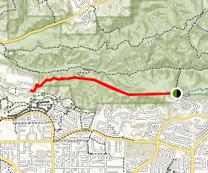 South Ridge Trail: Rim Crest to Water District Gate Map