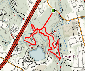 Wincopin Green, Red, and Yellow Trail Loop Map