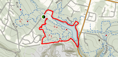 Washington Valley Reservoir Loop via Red, White and Fire Trail Map
