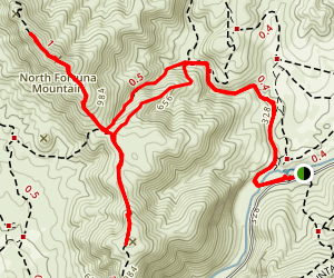 Old Mission Dam to North and South Fortuna Loop Map