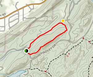 Light Trail and Ridge Loop Map