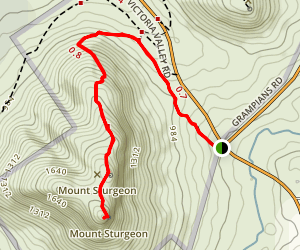 Mount Sturgeon Track Map