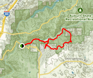Quarry Trail to Brown's Bar to Goat Hill Map