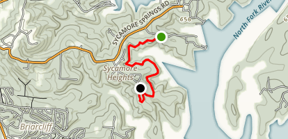 Norfork Trail: Devils Backbone to Georges Cove Map