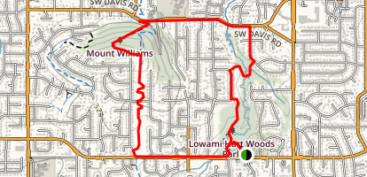 Lowami Hart Woods to Mount Williams to Burntwood Loop Map