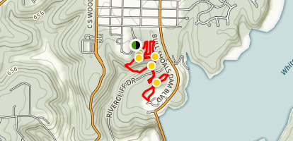 Bull Shoals City Park Trails Map