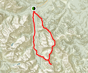 Junction Mountain to Pyriform Mountain Traverse Map
