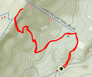 Jawbone Overlook Trail Map