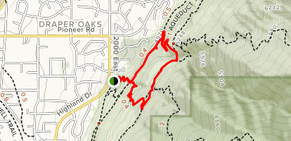 Orson Smith Park to Draper Suspension Bridge Loop Map