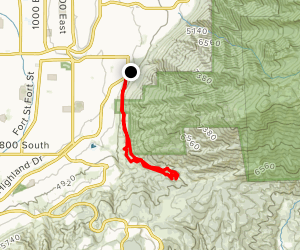 Ghost Falls from Draper Alpine Road Map
