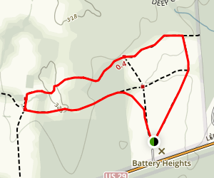 Brawner Farm Loop Map