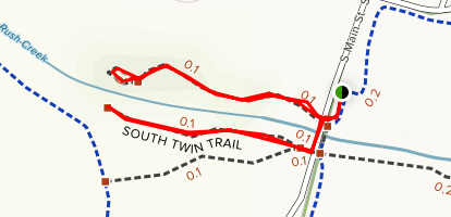 North Twin and South Twin Trails Map