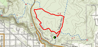 T-Bone and Pioneer Rim Trail Loop Map