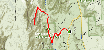 Deidre Peak Map