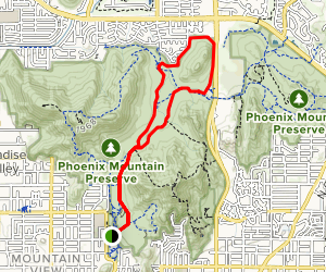 Trail 100, Trail 306 and No Name Mountain Loop Map