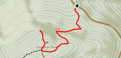 Compton Peak via Appalachian Trail Map