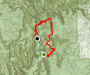 East Rim Trail to Mystery Canyon Map
