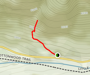 Climbing in Little Cottonwood Canyon Dihedrals Area Map