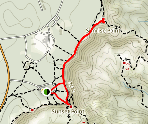Sunset Point to Sunrise Point Map