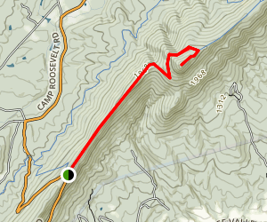 Massanutten Mountain Trail to Kennedy Peak Map