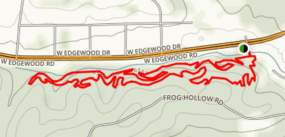 Frog Hollow via Edgewood Nature Trail Map